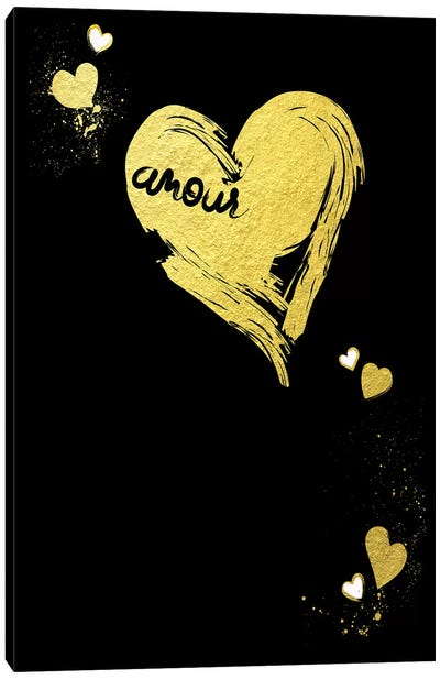 Golden Amour III Canvas Art Print