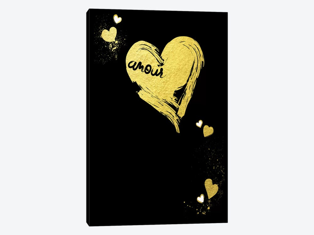 Golden Amour III 1-piece Canvas Wall Art