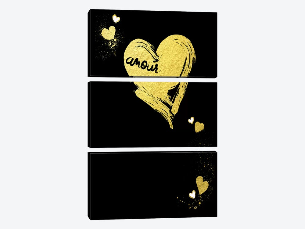 Golden Amour III 3-piece Canvas Artwork