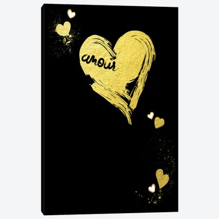 Golden Amour III Canvas Print #BNZ19} by 33 Broken Bones Canvas Art Print