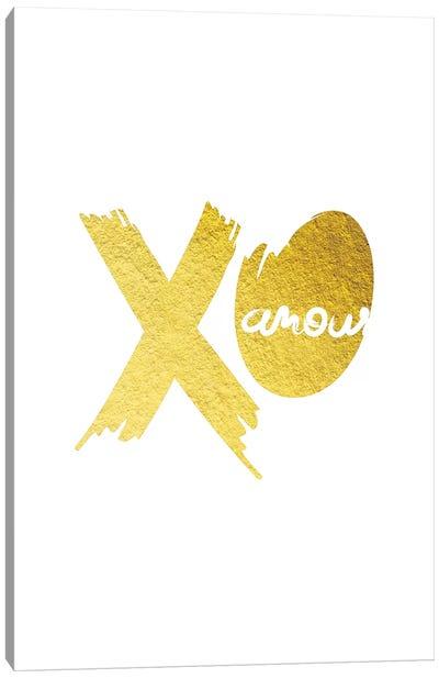 Golden Amour IV Canvas Art Print