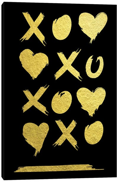 Golden Amour V Canvas Art Print