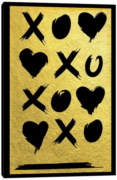 Golden Amour VI Canvas Art Print
