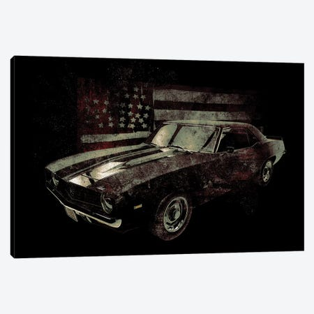 American Muscle Car I Canvas Print #BNZ2} by 33 Broken Bones Canvas Art Print