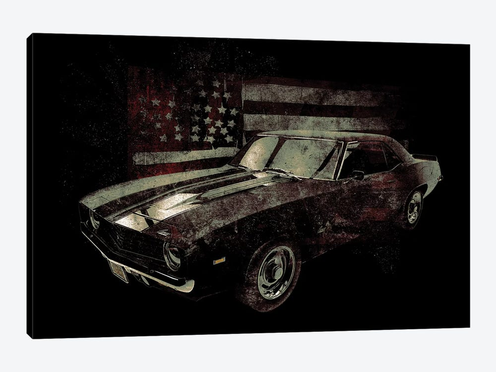 American Muscle Car I by 33 Broken Bones 1-piece Canvas Wall Art
