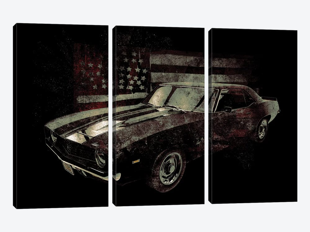 American Muscle Car I by 33 Broken Bones 3-piece Canvas Art