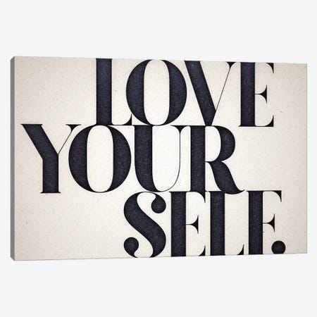 Love Yourself Canvas Print #BNZ36} by 33 Broken Bones Canvas Artwork
