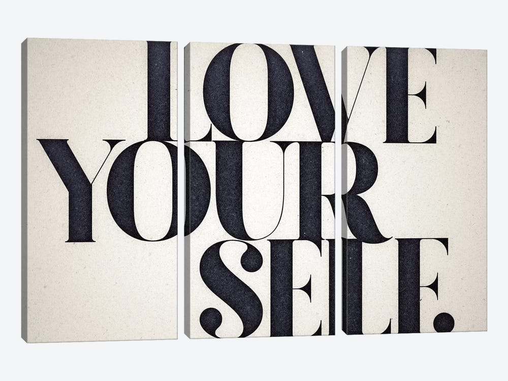 Love Yourself by 33 Broken Bones 3-piece Canvas Print