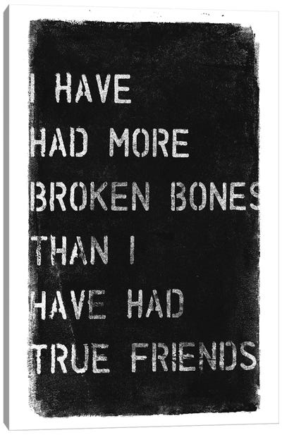 More Broken Bones Canvas Art Print