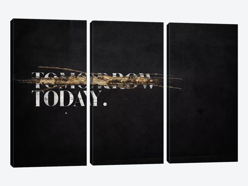 Not Tomorrow 3-piece Canvas Print