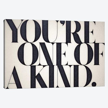One Of A Kind Canvas Print #BNZ39} by 33 Broken Bones Art Print