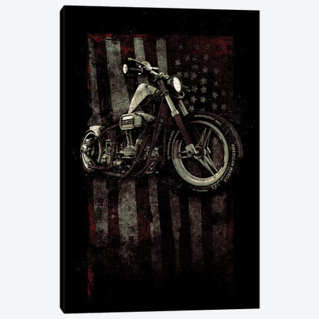 American Muscle: Motorcycle I Canvas Print #BNZ3} by 33 Broken Bones Canvas Art Print