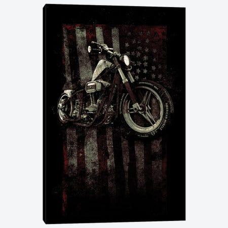 American Muscle: Motorcycle I 3-Piece Canvas #BNZ3} by 33 Broken Bones Canvas Art Print
