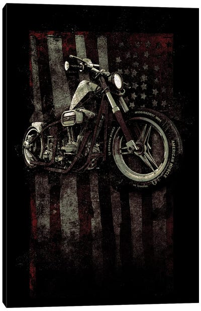 American Muscle: Motorcycle I Canvas Art Print