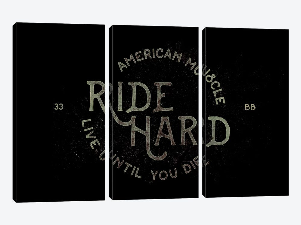 Ride Hard by 33 Broken Bones 3-piece Canvas Wall Art