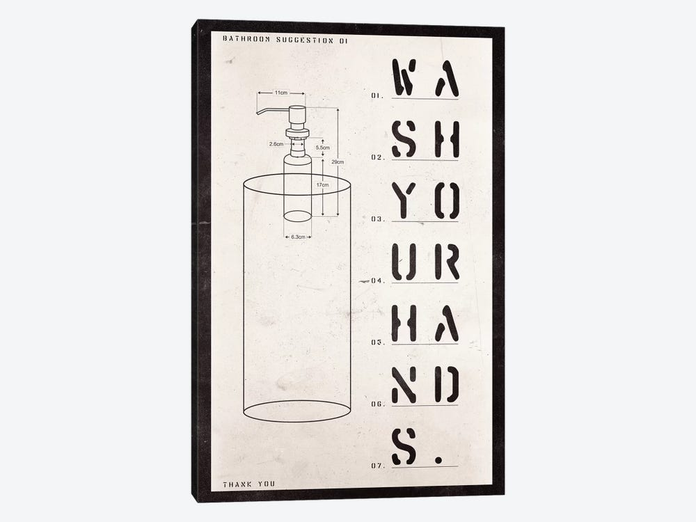 Soap Dispenser Patent Print by 33 Broken Bones 1-piece Canvas Print