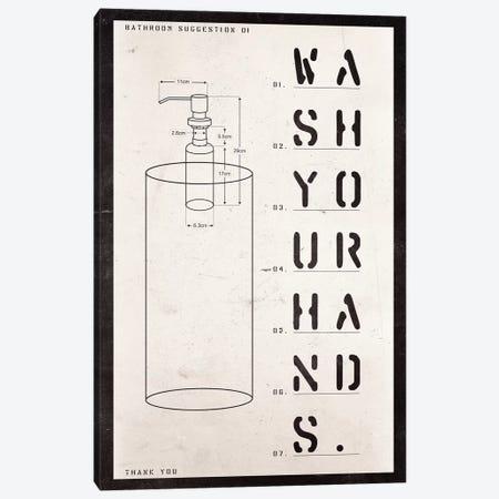 Soap Dispenser Patent Print Canvas Print #BNZ41} by 33 Broken Bones Canvas Wall Art