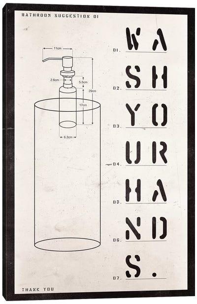 Soap Dispenser Patent Print Canvas Art Print