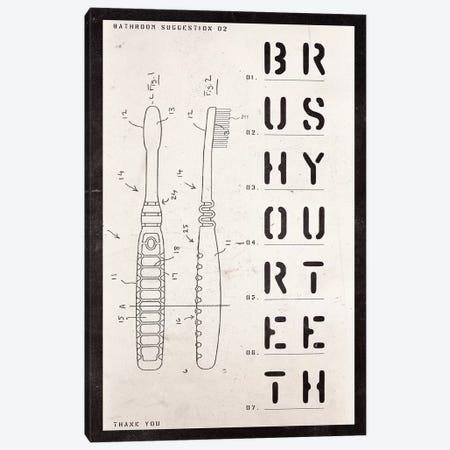 Toothbrush Patent Print Canvas Print #BNZ42} by 33 Broken Bones Canvas Wall Art