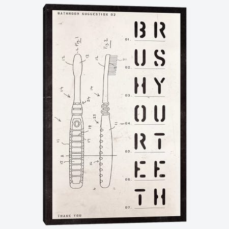 Toothbrush Patent Print Canvas Print #BNZ42} by 33 Broken Bones Canvas Wall Art