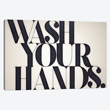 Wash Your Hands Canvas Print #BNZ46} by 33 Broken Bones Canvas Print