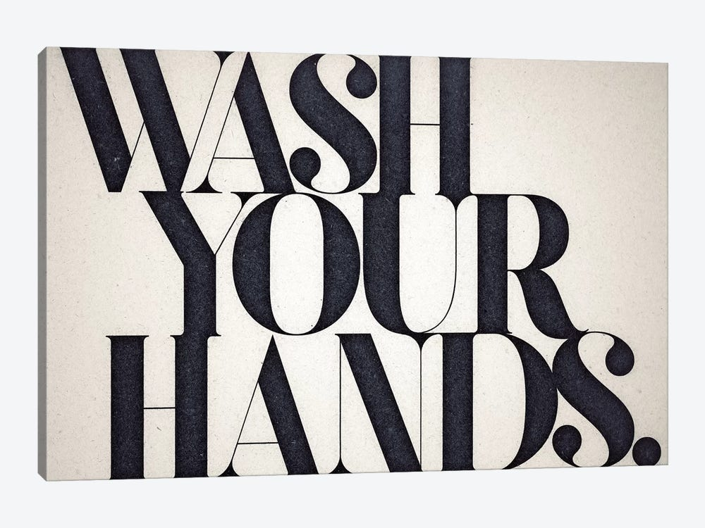 Wash Your Hands 1-piece Canvas Wall Art