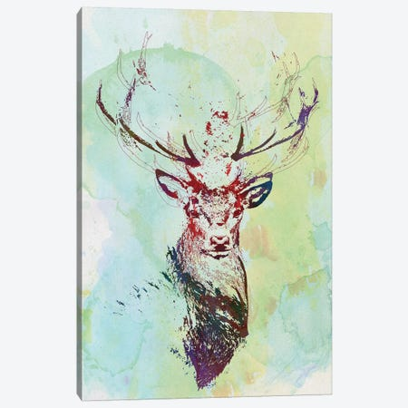 Watercolor Wildlife I Canvas Print #BNZ47} by 33 Broken Bones Art Print