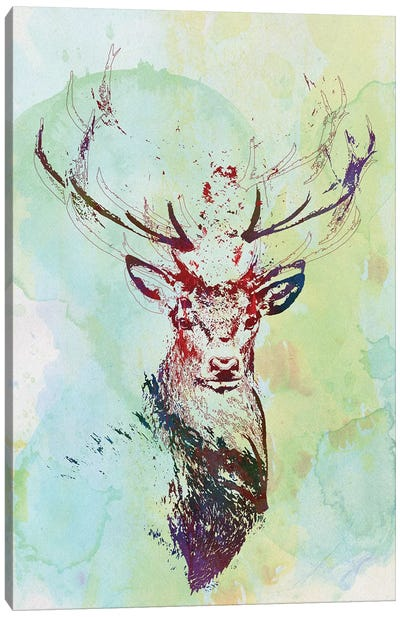 Watercolor Wildlife I Canvas Art Print