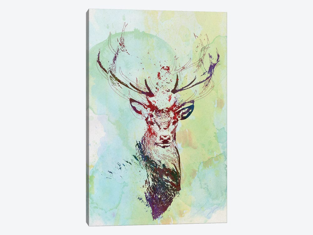 Watercolor Wildlife I by 33 Broken Bones 1-piece Canvas Art Print