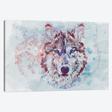 Watercolor Wildlife II Canvas Print #BNZ48} by 33 Broken Bones Canvas Artwork