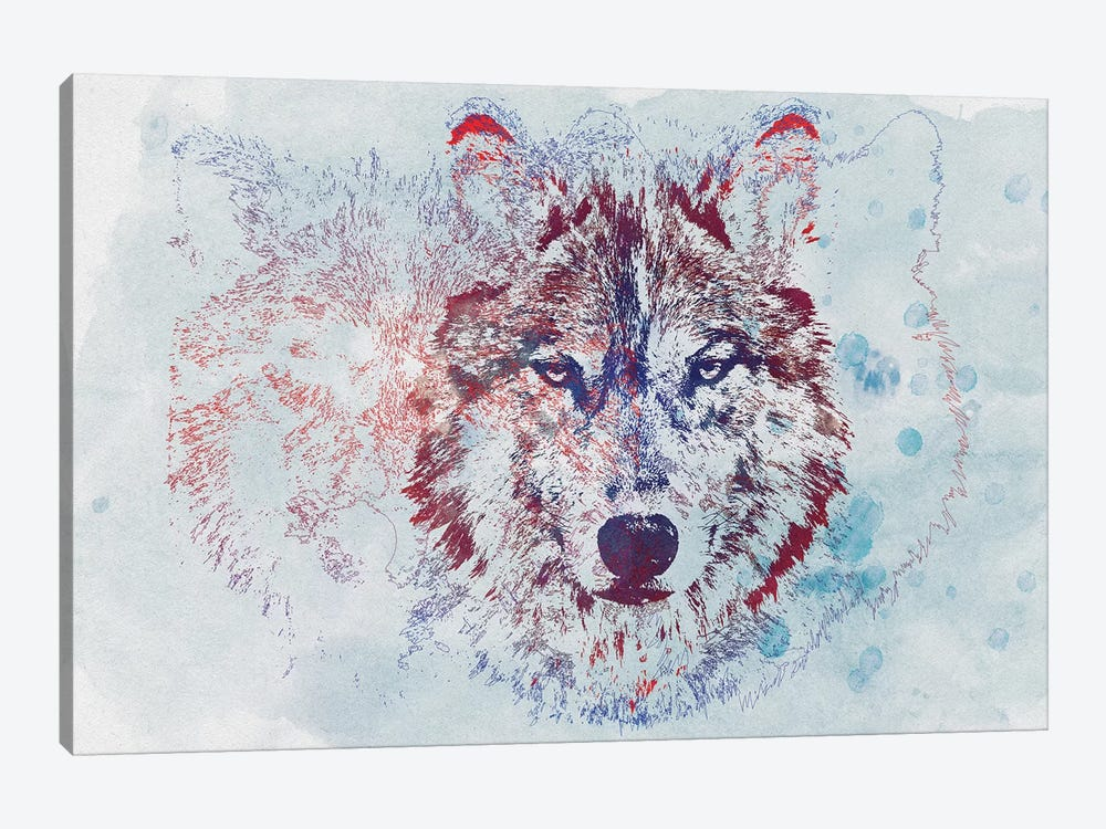 Watercolor Wildlife II by 33 Broken Bones 1-piece Canvas Wall Art