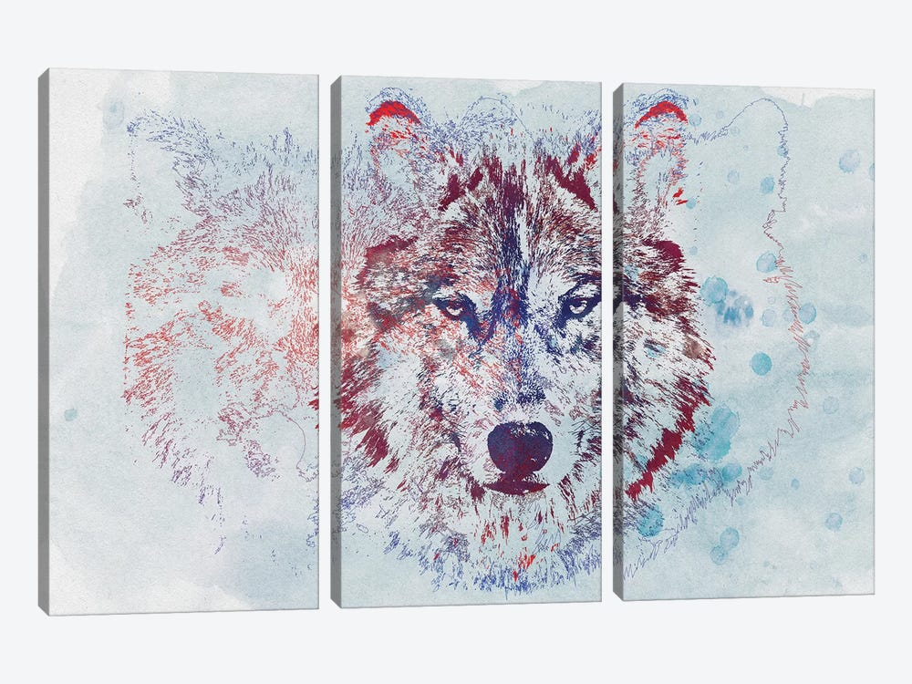 Watercolor Wildlife II by 33 Broken Bones 3-piece Canvas Wall Art