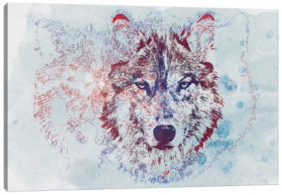 Watercolor Wildlife II Canvas Art Print