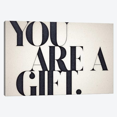 You Are A Gift Canvas Print #BNZ49} by 33 Broken Bones Canvas Wall Art