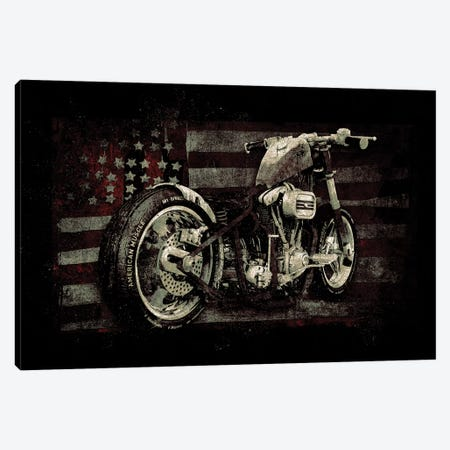 American Muscle: Motorcycle II Canvas Print #BNZ4} by 33 Broken Bones Canvas Artwork