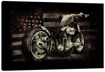 American Muscle: Motorcycle II Canvas Art Print