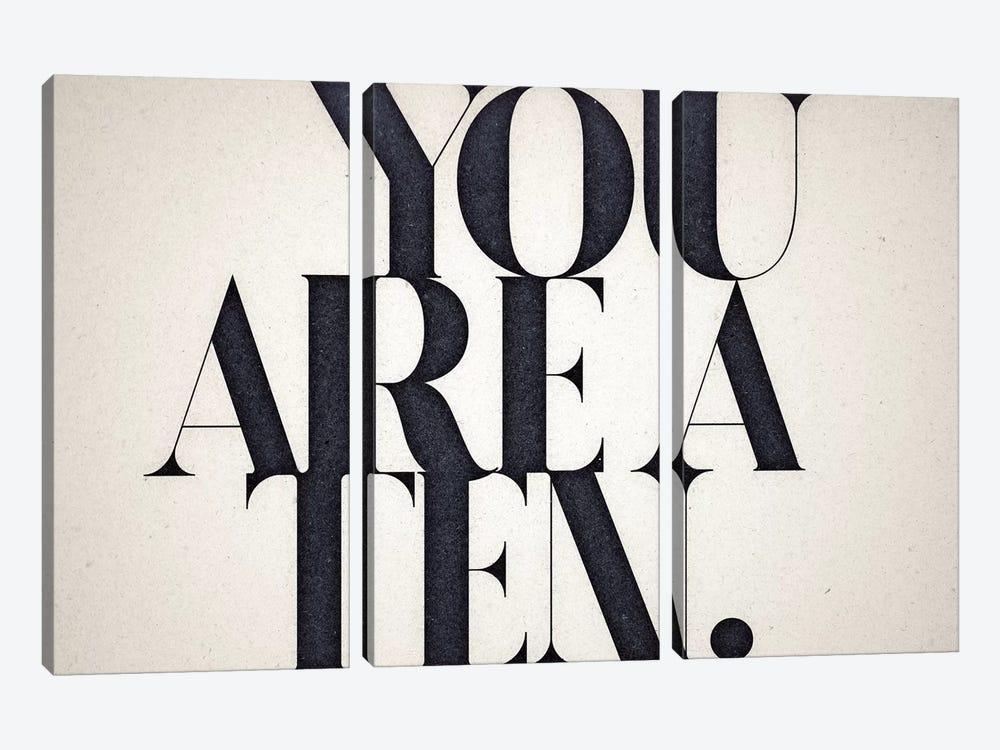 You Are A Ten by 33 Broken Bones 3-piece Canvas Wall Art