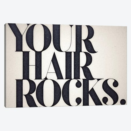 Your Hair Rocks Canvas Print #BNZ54} by 33 Broken Bones Canvas Wall Art