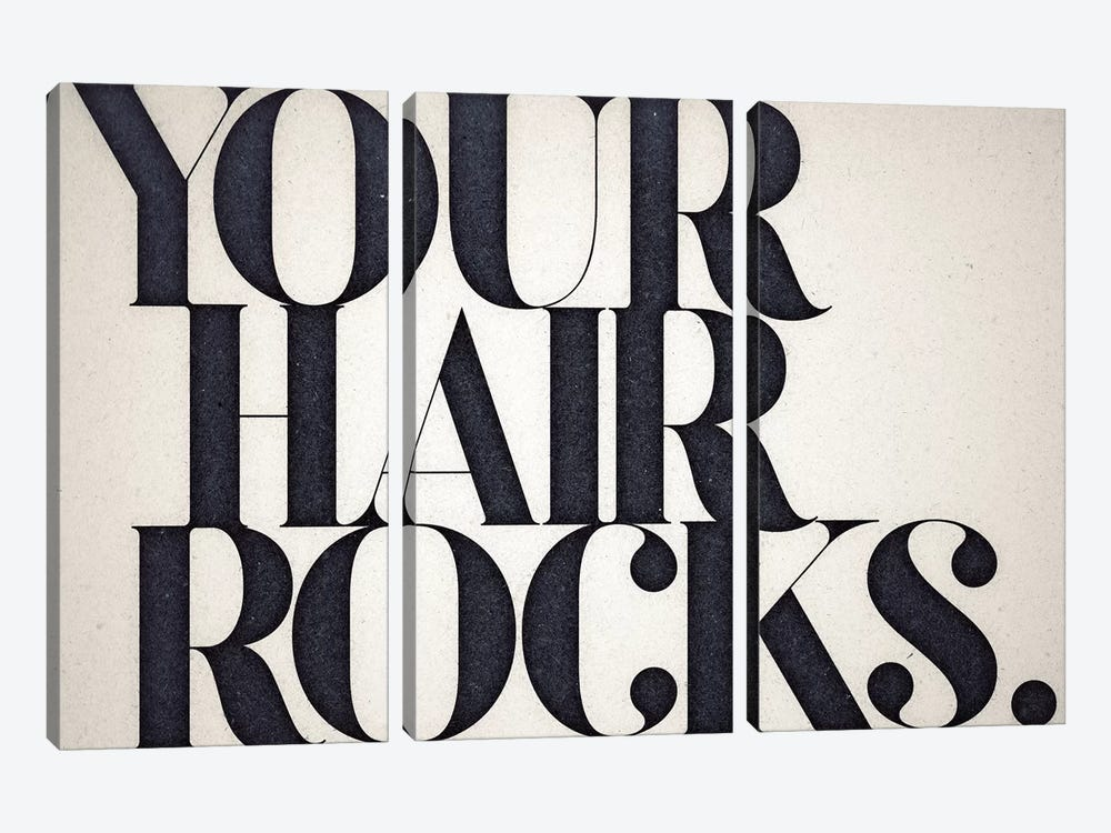 Your Hair Rocks 3-piece Art Print