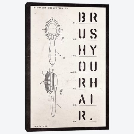 Brush Patent Print Canvas Print #BNZ8} by 33 Broken Bones Art Print