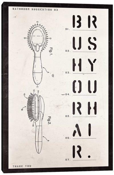 Brush Patent Print Canvas Art Print