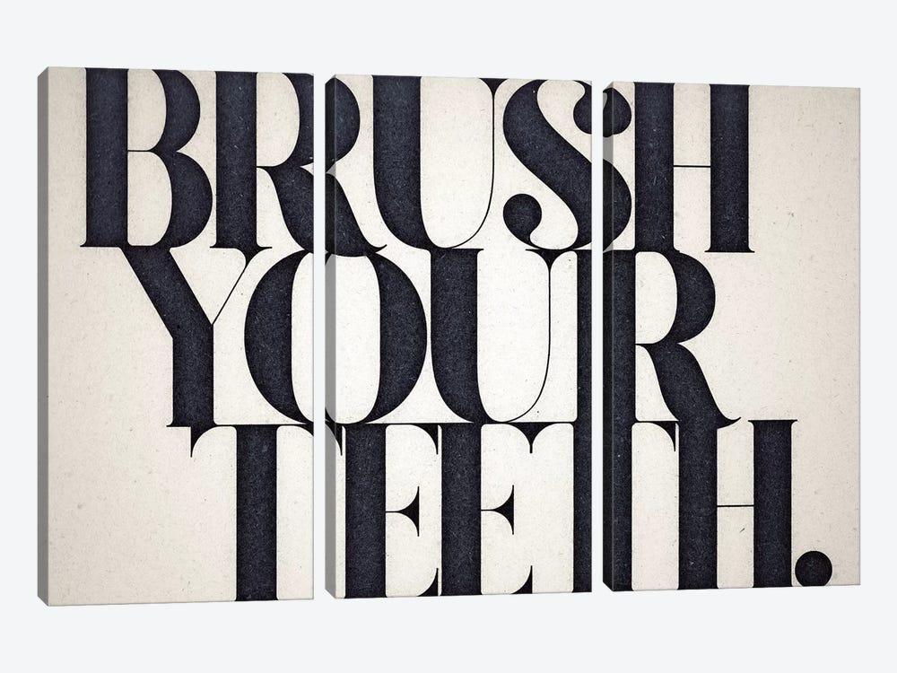 Brush Your Teeth by 33 Broken Bones 3-piece Canvas Art Print