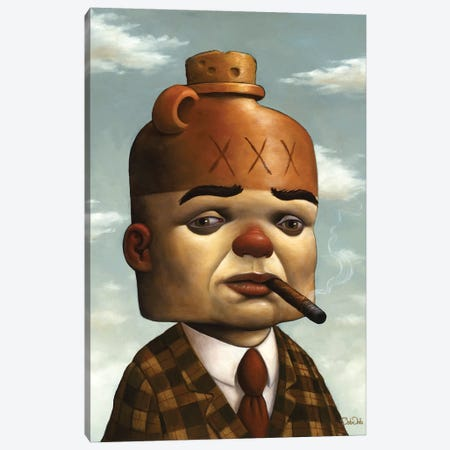 Jug Head 3-Piece Canvas #BOD15} by Bob Dob Art Print