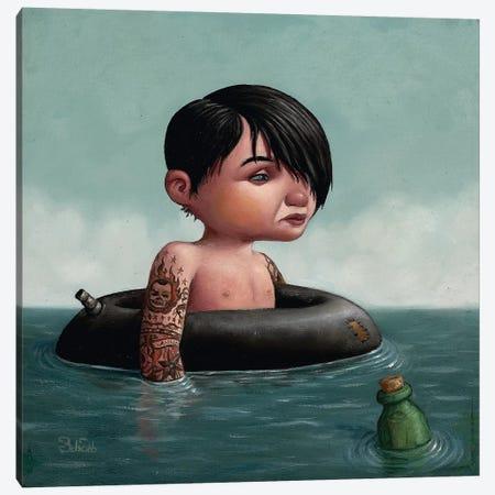 Message In A Bottle 3-Piece Canvas #BOD18} by Bob Dob Canvas Artwork