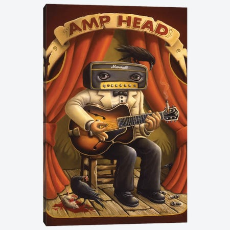 Amp Head Canvas Print #BOD1} by Bob Dob Canvas Print