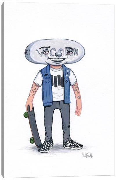 Pill Head Skater Canvas Art Print