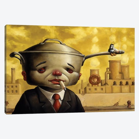 Pot Head I Canvas Print #BOD23} by Bob Dob Canvas Art Print