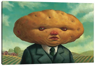 Potato Head Canvas Art Print