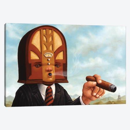 Radio Head Canvas Print #BOD26} by Bob Dob Canvas Art