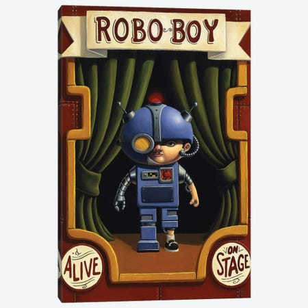 Robo Boy Canvas Print #BOD28} by Bob Dob Canvas Art Print